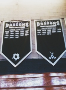 As the banners hang in DHS gym, the rivalry between the girls soccer and field hockey team, grows stronger every year.