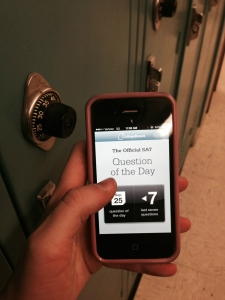 The SAT Question of the Day app can be accessed from any smart phone and is a valuable study tool for students.