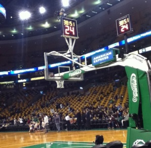 A picture from a Celtics game