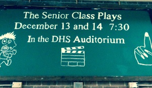 The Drama Club's publicity chairs have been hard at work trying to promote the Senior Class Plays.