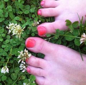 Feet in the summertime
