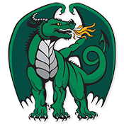 New and improved Duxbury Dragons logo, designed by Senior Caroline O'Connor.