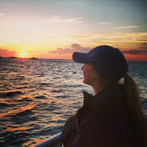 Sophomore Lauren H. watches the Nantucket sunset on a ferry to her favorite summer destination.