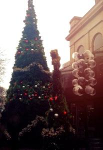 Christmas festivities have begun in Boston
