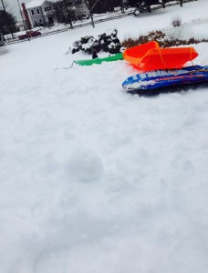 Sledding is one winter activity students do on snow days
