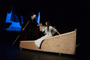 The Phantom captures Christine and takes her to his home.
