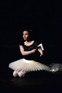 The final scene of the musical, Kristi M holds up the Phantom's mask.