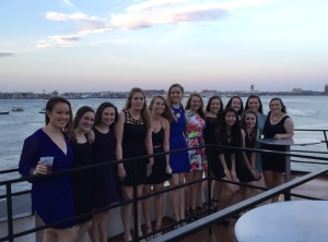 Students pose for a photo aboard the Odyssey ship at SNO. Photo courtesy of Jill Sharpe.