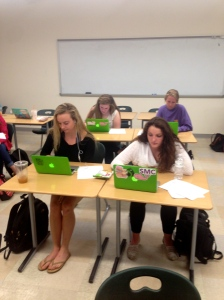 A group of senior girls participating in the Youth Risk Behavior Survey